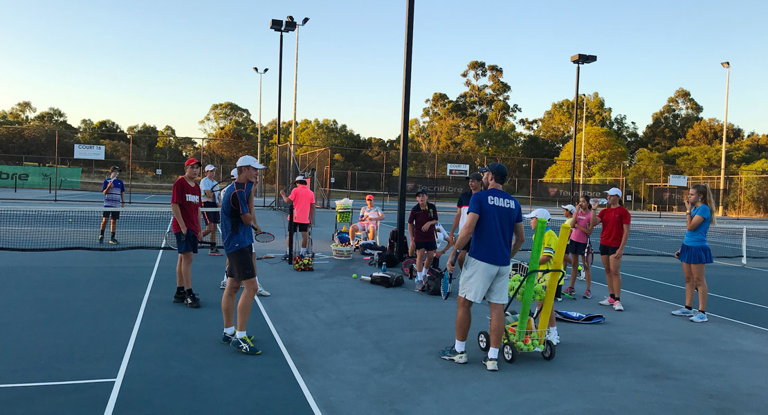 Mixed Intermediate Group Tennis Coaching