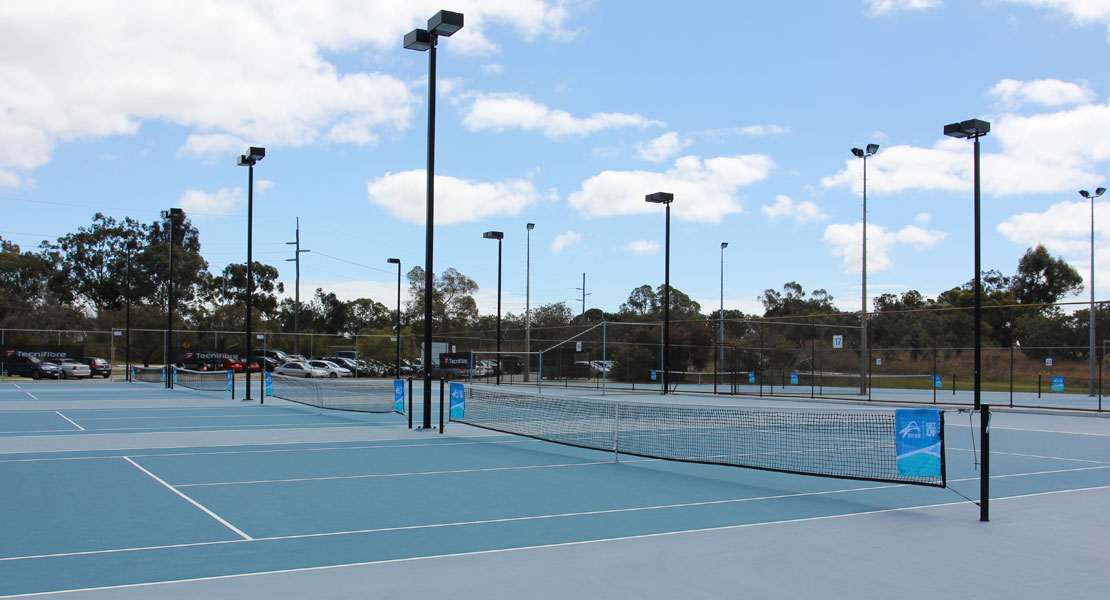 Mt Lawley Tennis Club hardcourts during the day time