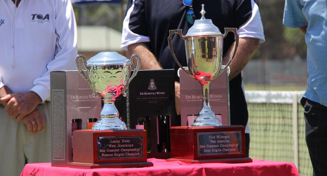 WA State Grasscourt Championships Trophies