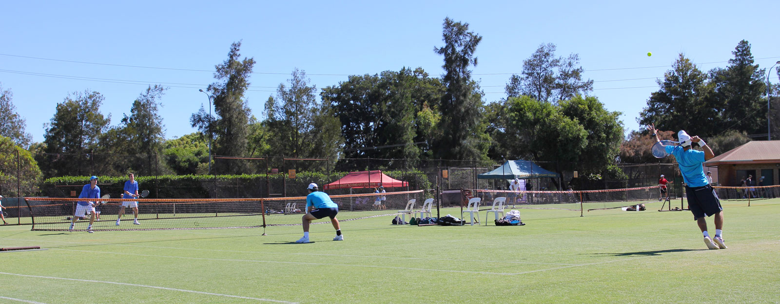 Competitive Mens Doubles Tennis at Mt Lawley Tennis Club
