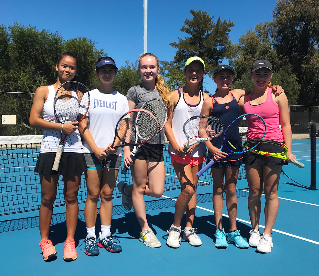 Junior Girls Tennis Players at Mt Lawley Tennis Club