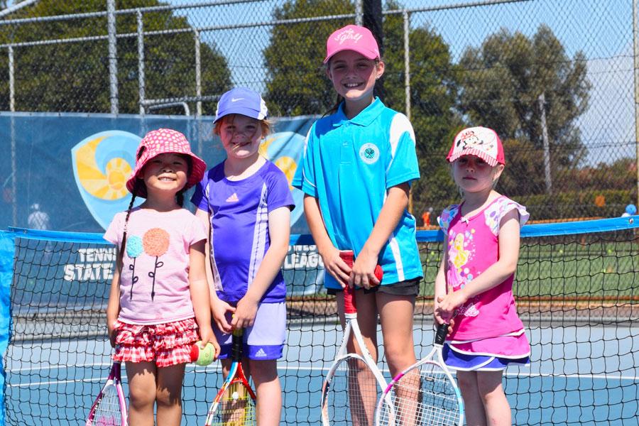 Junior Girls Tennis Players at Mt Lawley Tennis Club