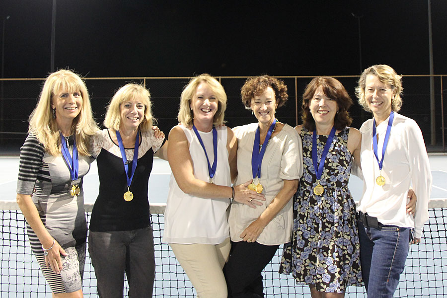 Champion Winning Women's Doubles Team at Mt Lawley Tennis Club